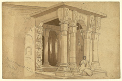 Porch of temple, Baijnath, Kangra district (Punjab). 24 October 1870